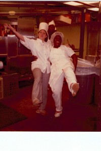 Minority Chef bonding with the natives in New Orleans,  Expo '84
